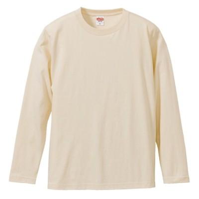 Tシャツ 長袖 メンズ ハイクオリティー 5.6oz XL サイズ ナチュラル 無地 ユナイテッドアスレ CAB