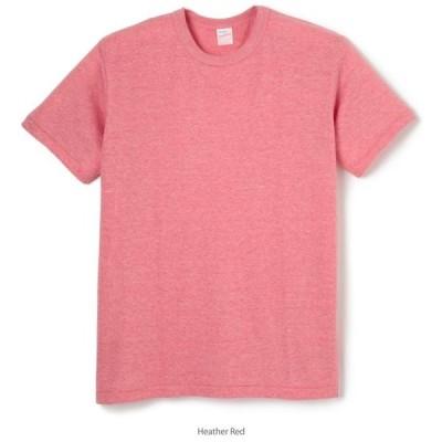 Healthknit(ヘルスニット) TCR クルーネック 半袖Tシャツ ヘザーレッド 980