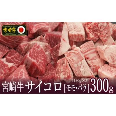 <宮崎牛>2種類の部位を堪能!サイコロ肉 300g※90日以内発送【B462】