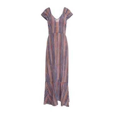 アティックアンドバーン ATTIC AND BARN ロングワンピース&ドレス ブラウン 42 シルク 100% ロングワンピース&ドレス