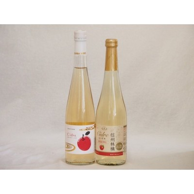 りんごワイン2本セット(青森弘前市産シードル 信州林檎シードル) 500ml×2本