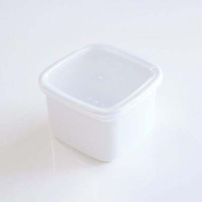 野田琺瑯 ホワイトシリーズ White Series スクエアM シール蓋付 保存容器 日本製 国産品 高品質 直火 衛生的 白