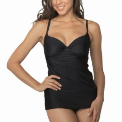 smart スマート スポーツ用品 スイミング Smart Sexy Swim NEW Black Womens Size 40 Padded Tankini Top Swimwear