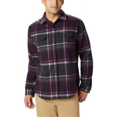 コロンビア Columbia メンズ シャツ トップス deschutes river heavyweight flannel Black Cherry Oversized Check