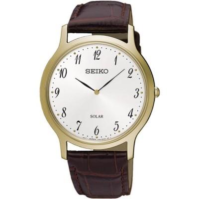 腕時計 セイコー SEIKO SUP860P1,Men's Solar Quartz,Silver tone,Stainless,Leather Strap,WR,SUP860