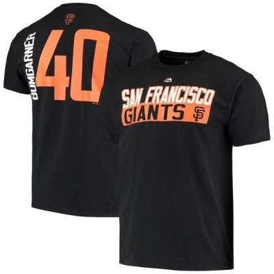 マジェスティック メンズ Tシャツ トップス Madison Bumgarner San Francisco Giants Majestic Block T-Shirt