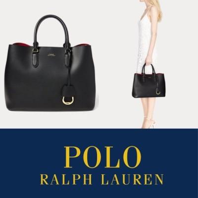ローレン ラルフローレン ラルフ LRL バッグ レザー トート Leather Marcy Satchel ブラック 黒 ポロ Polo RALPH LAUREN 取り寄せ