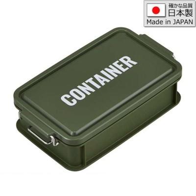 (まとめ買い)弁当箱 コンテナ 1段 900ml「LUNCH CHIME」カーキ 日本製 CNT-900