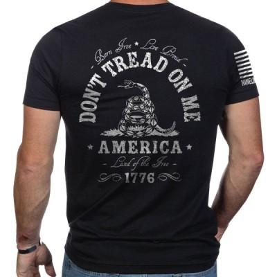 メンズファッション ナイス ライン アパレル  Black Nine Line Apparel Don't Tread On Me Short Sleeve T-Shirt