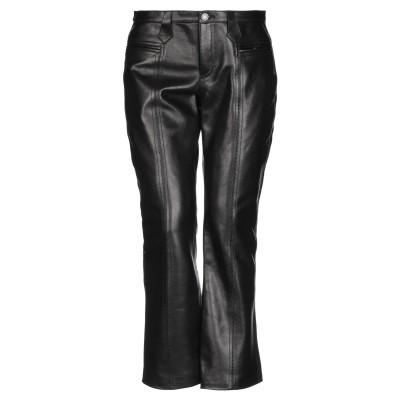 SAINT LAURENT パンツ ブラック 38 牛革(カーフ) 100% パンツ
