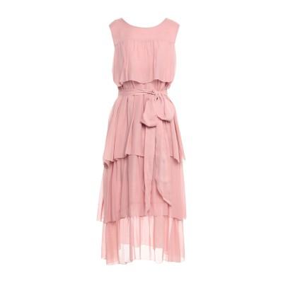 OTTOD'AME 7分丈ワンピース・ドレス ピンク 40 レーヨン 100% / コットン 7分丈ワンピース・ドレス
