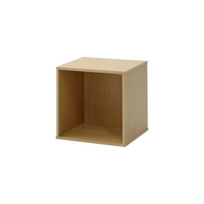 ds-795910 キューブボックス/カラーボックス 幅34.5cm×奥行29.5cm×高さ34.5cm ナチュラル【組立品】 (ds795910)