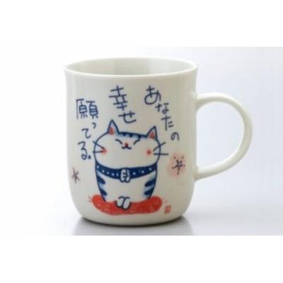 マグカップ 染付福猫 祈願マグカップ