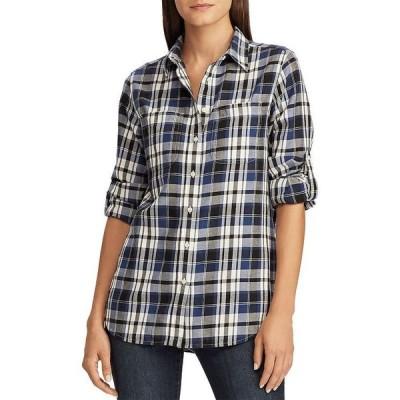 ラルフローレン レディース シャツ トップス Plaid Roll-Sleeve Shirt