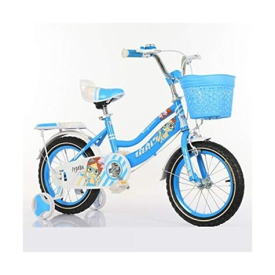 JLFSDB Kids' Bike 12/14/16/18 Inch Children Bicycle Student Bicycle for Boys and Girls Light Bike (Color : Blue, Size : 14inch)【並行輸