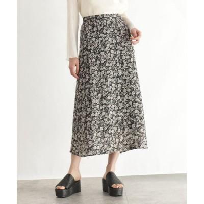 OZOC(オゾック) [洗える]総柄ジャガードマキシスカート