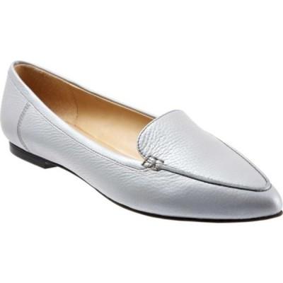 トロッターズ スリッポン・ローファー シューズ レディース Ember Loafer (Women's) Grey Pearlized Leather