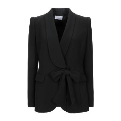 CRISTINAEFFE テーラードジャケット ブラック 42 ポリエステル 94% / ポリウレタン 6% テーラードジャケット