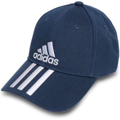 ☆アディダス adidas 帽子 ベースボール 3ストライプス ツイル キャップ メンズ レディース ジュニア テックインディゴ/ホワイト/ホワイト FK0895(L)