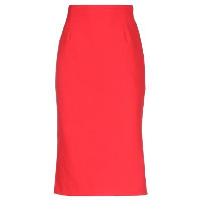 ピンコ PINKO 7分丈スカート レッド 42 ポリエステル 88% / ポリウレタン 12% 7分丈スカート
