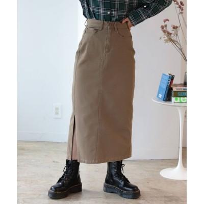 BeAMS DOT / 【WEB限定】BeAMS DOT / 綿スリット コクーンスカート WOMEN スカート > デニムスカート