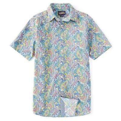 ダニエル クレミュ メンズ シャツ トップス Jeans Paisley Print Blue Short-Sleeve Woven Shirt