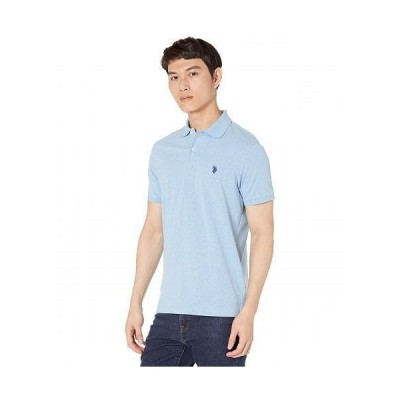 U.S. POLO ASSN. USポロ メンズ 男性用 ファッション ポロシャツ Jersey Polo Shirt - Surf Blue Heather