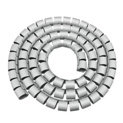 uxcell スパイラルチューブ ケーブル スパイラルワイヤ コード 30mm 長さ2M 柔軟性 グレー