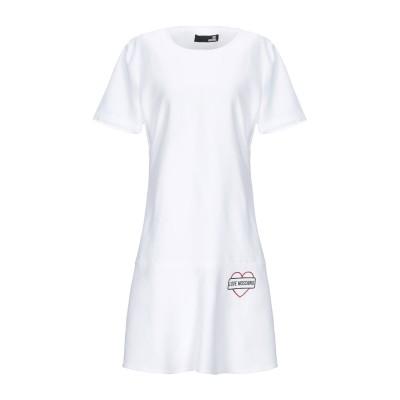 ラブ モスキーノ LOVE MOSCHINO ミニワンピース&ドレス ホワイト 42 レーヨン 43% / コットン 40% / 麻 17% ミニワ