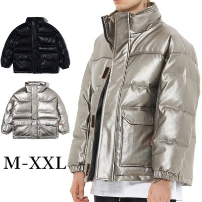 メンズコート 綿入り 冬 中綿ジャケット ブルゾン 厚手 アウター ジャンパー 切り替え 暖かい ゆったり ショート丈 防風防寒 カジュアル 光沢感 綿入り服