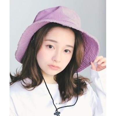 14+(ICHIYON PLUS) / フリンジ紐付きウォッシュハット WOMEN 帽子 > ハット