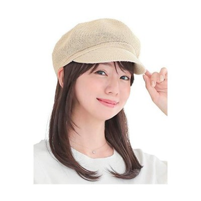 [AQUADOLL(アクアドール)] ウィッグ 前髪 取り外し式 髪付き 帽子 ミディアム レイヤー 人毛MIX フリーサイズ BKM.黒・