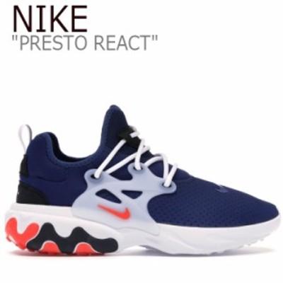 ナイキ スニーカー NIKE メンズ PRESTO REACT プレスト リアクト BLUE ブルー WHITE ホワイト AV2605-400 シューズ