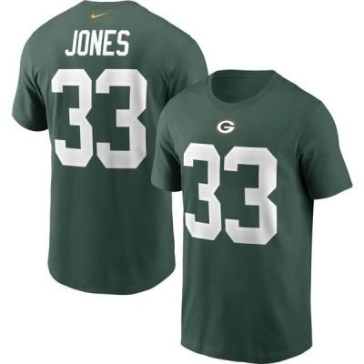ナイキ Nike メンズ Tシャツ トップス Green Bay Packers Aaron Jones #33 Legend Green T-Shirt