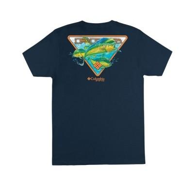 コロンビア Tシャツ トップス メンズ Men's Performance Fishing Gear Lipton Short Sleeve T-shirt Columbia Navy