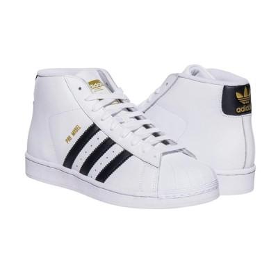 Adidas/アディダス adidas メンズ スニーカー ホワイト ブラック PRO MODEL SNEAKER プロモデル S85956