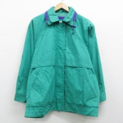 古着 レディース 長袖 ジャケット 90年代 90s ロンドンフォグ 大きいサイズ ラグラン 緑 グリーン 中古 アウター ジャンパー ブルゾン ジ