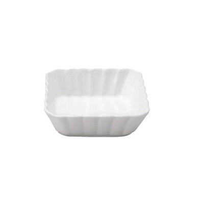 【SALE!8/4まで】和食器 しのぎかすみ 白い食器ホワイト 11cm浅角鉢