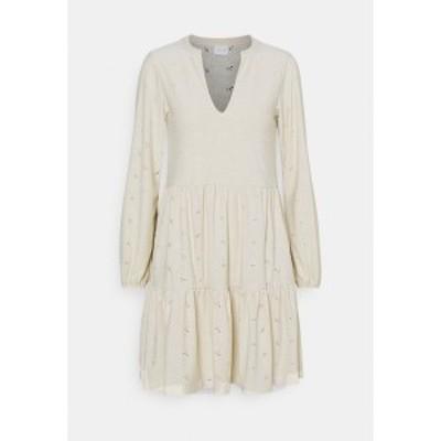 ヴィラ プティ レディース ワンピース トップス VISANIANA V NECK DRESS - Day dress - birch birch
