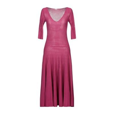 マーロ MALO 7分丈ワンピース・ドレス モーブ 38 コットン 100% 7分丈ワンピース・ドレス