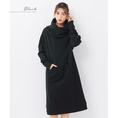 大きいサイズ ビッグカラー裏起毛ワンピース ,スマイルランド, ワンピース, plus size dress