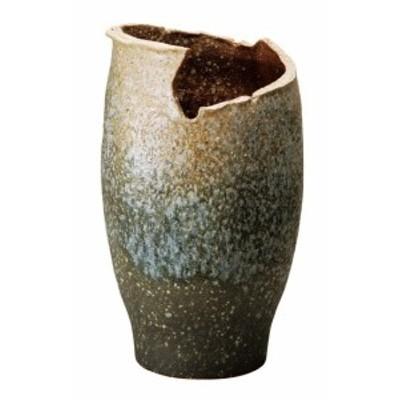 信楽焼 陶器 和風 モダン 壺 白 ホワイト 白窯変変形傘立て 高さ49.0cm