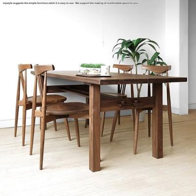 【開梱設置配送】幅180cm 150cmの2サイズ ウォールナット材 垂直と水平の交わりが美しいウォールナット無垢材のダイニングテーブル(※チェア別売)