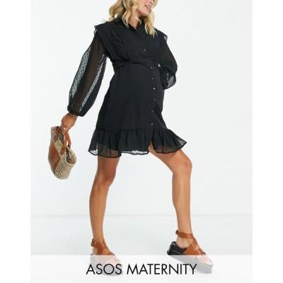 エイソス ASOS Maternity レディース ワンピース マタニティウェア ミニ丈 シャツワンピース ワンピース・ドレス