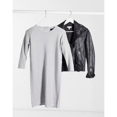 ヴェロモーダ レディース ワンピース トップス Vero moda round neck sweater dress in gray