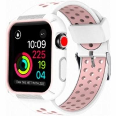 ROOX ルークス Apple Watch Series4&5 40mm用 インテグラル・スポーツ ピンク JGWSPSW5S-PK バンド ケース セット