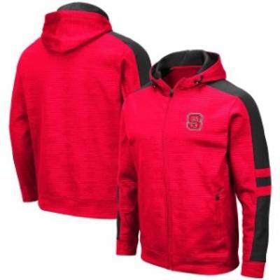 Colosseum コロセウム スポーツ用品  Colosseum NC State Wolfpack Red Bart Full-Zip Hoodie