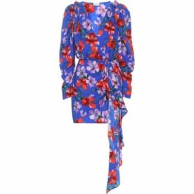 マグダ ブトリム Magda Butrym レディース ワンピース ワンピース・ドレス Lagos floral silk minidress Blue