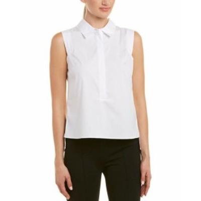 Milly ミリー ファッション 衣類 Milly Pleat-Back Shirt P White