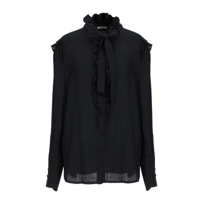 トゥルー ロイヤル TRUE ROYAL シャツ ブラック 46 アセテート 57% / ナイロン 27% / シルク 16% シャツ